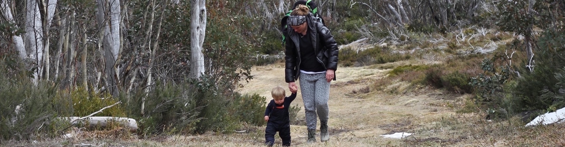family bush walking hotham