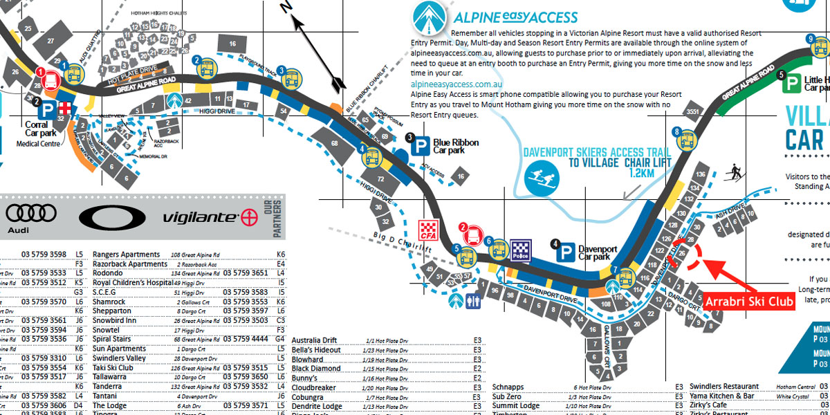 Arrabri Ski Club Hotham Heights Address Mt Hotham