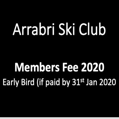 Arrabri Members Sub Fees Early Bird