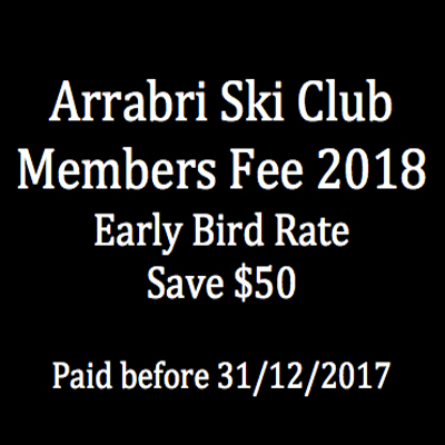 arrabri ski club members fee image