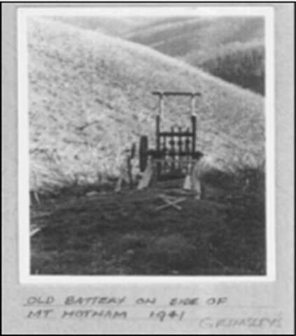 Historic Image of old battery southern cross mine
