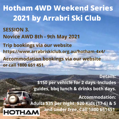 Arrabri Ski Club 4x4 Weekend Session 3 AWD Entry Level